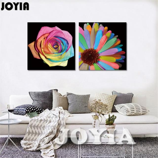 Aliexpress : Buy Floral Wall Art Modern Wall Decorative In Floral Wall Art Canvas (Image 3 of 20)