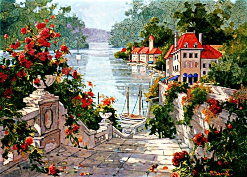 Aliexpress : Buy Free Shipping Big Size Scenery Wall Tapestry Pertaining To Italian Scenery Wall Art (Image 8 of 20)