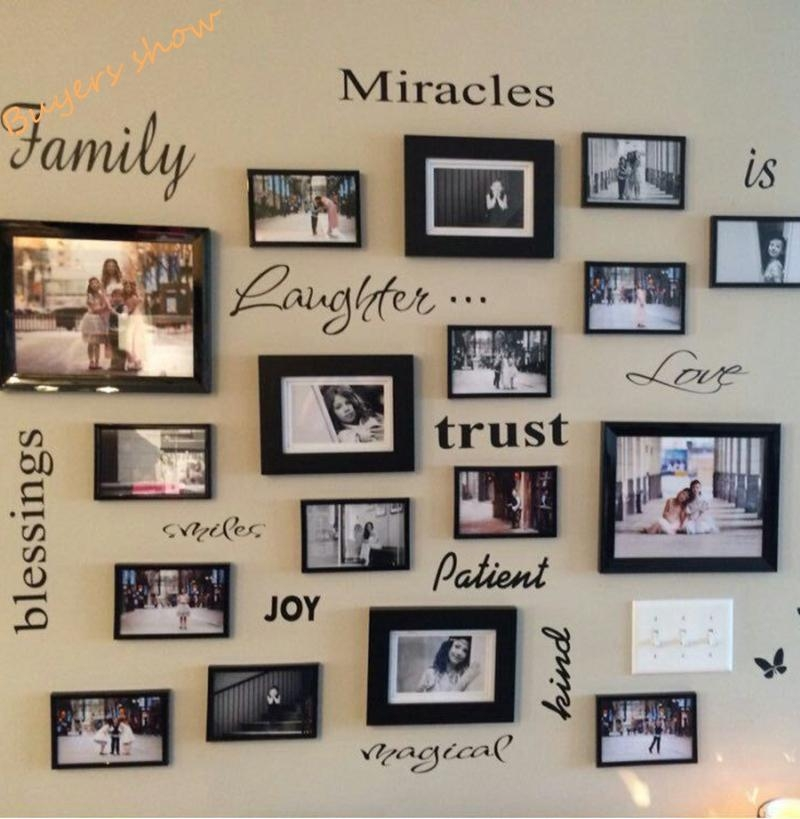Aliexpress : Buy Free Shipping Family Is Vinyl Wall Lettering With Family Wall Art Picture Frames (Image 1 of 20)