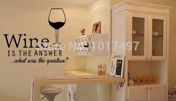 Aliexpress : Buy Free Shipping Funny Bar Pub Wall Art Stickers Within Wine Themed Wall Art (Image 3 of 20)