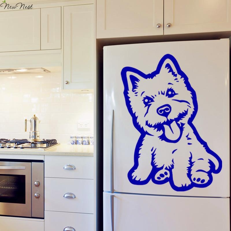 Aliexpress : Buy Free Shipping Westie Dog Decal Vinyl Sticker Intended For Westie Wall Art (Image 12 of 20)