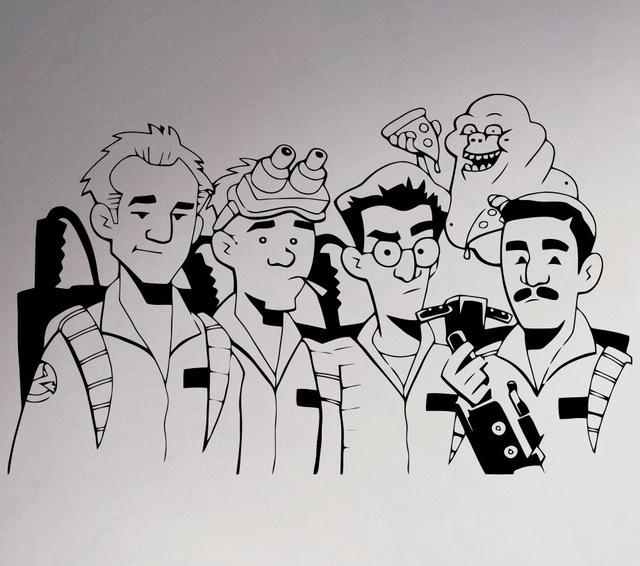 Aliexpress : Buy Ghostbusters Vinyl Decal Supernatural Wall Regarding Supernatural Wall Art (Image 3 of 20)