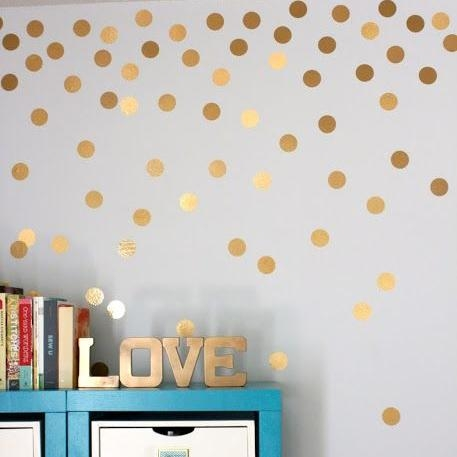 Featured Image of Gold Wall Art Stickers