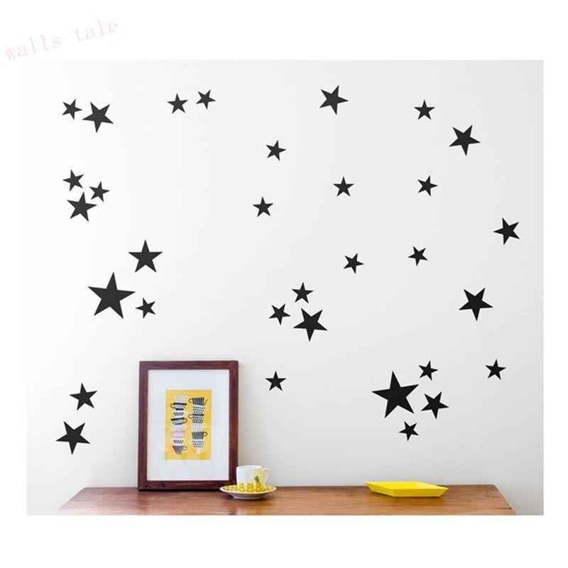 Aliexpress : Buy Gold Stars Pattern Vinyl Wall Art Decals For Pattern Wall Art (View 18 of 20)