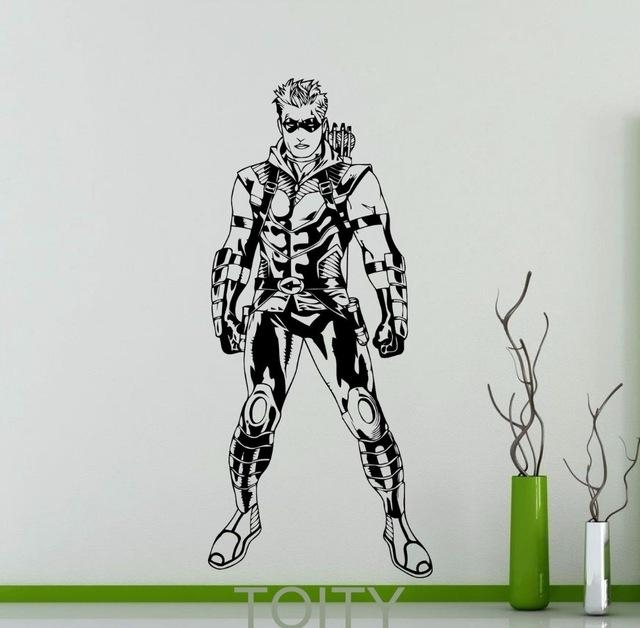 Aliexpress : Buy Green Arrow Poster Wall Art Sticker Superhero Throughout Superhero Wall Art Stickers (Image 4 of 20)