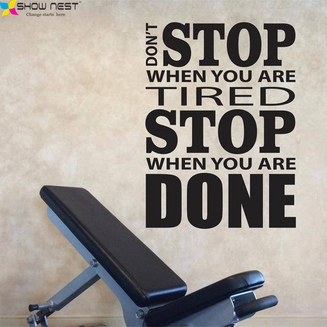 Aliexpress : Buy Home Gym Wall Decal Vinyl Sticker Motivation Intended For Wall Art For Home Gym (Image 4 of 20)