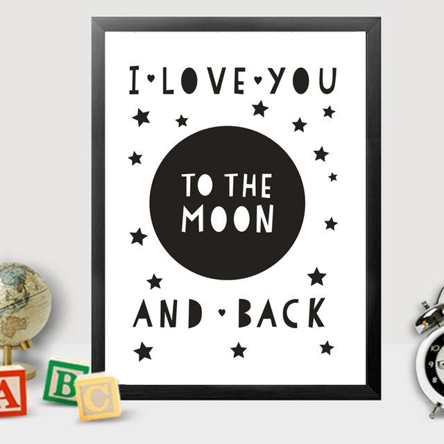 Aliexpress : Buy I Love You To The Moon And Back Canvas Intended For Love You To The Moon And Back Wall Art (Image 1 of 20)
