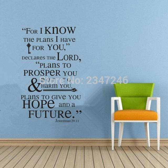 Aliexpress : Buy Jeremiah 29 11 Scripture Wall Art Words Wall With Regard To Jeremiah 29 11 Wall Art (Image 3 of 20)