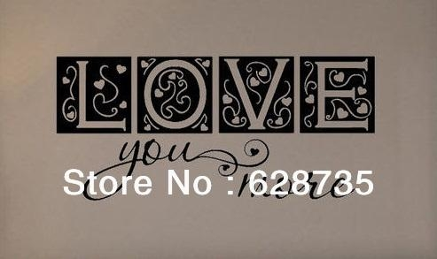 Aliexpress : Buy Large Size Free Shipping Bedroom Decor Love Regarding I Love You More Wall Art (Image 2 of 20)