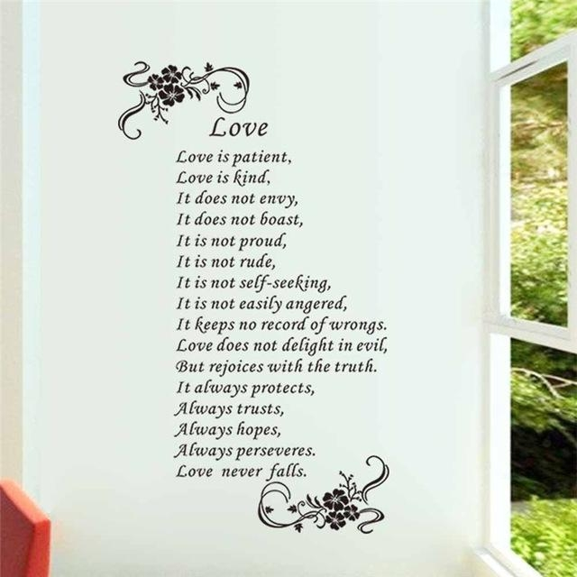 Aliexpress : Buy Love Is Patient Love Is Kind Love Never Falls For Love Is Patient Love Is Kind Wall Art (Image 3 of 20)