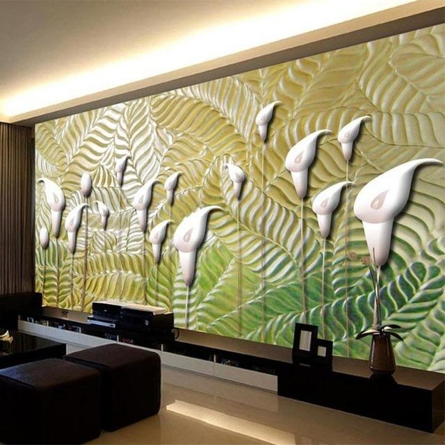 Aliexpress : Buy Modern Abstract Art Wallpaper 3D Embossed Within Abstract Art Wall Murals (Image 7 of 20)