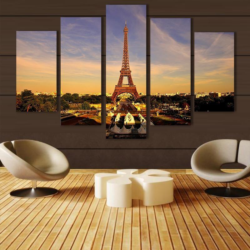 Aliexpress : Buy Modern Home Decor Eiffel Tower Wall Art Regarding Eiffel Tower Wall Art (Image 2 of 20)