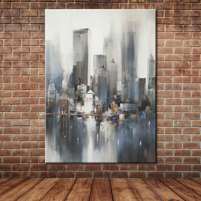 Aliexpress : Buy Modern Landscape Knife Painting ,abstract Pertaining To Abstract Art Wall Murals (Image 8 of 20)