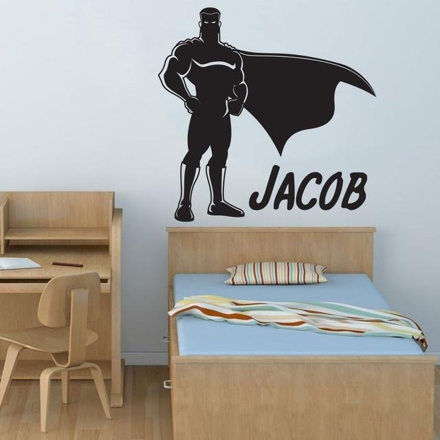 Aliexpress : Buy Movable Popular Boy Hero Superman Art Deco With Art Deco Wall Decals (Image 3 of 20)