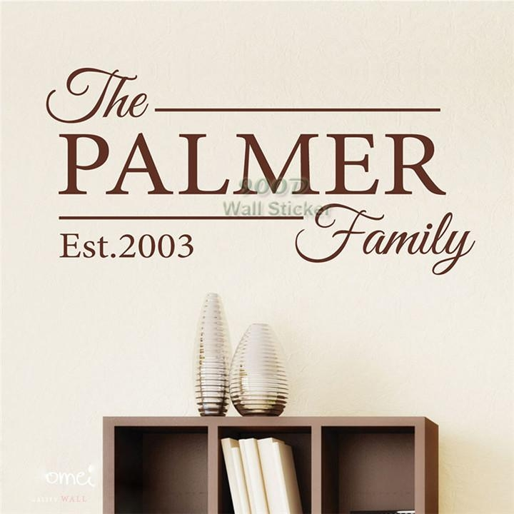 Aliexpress : Buy Personalized Family Name Wall Sticker, Home With Regard To Personalized Family Wall Art (Image 3 of 20)