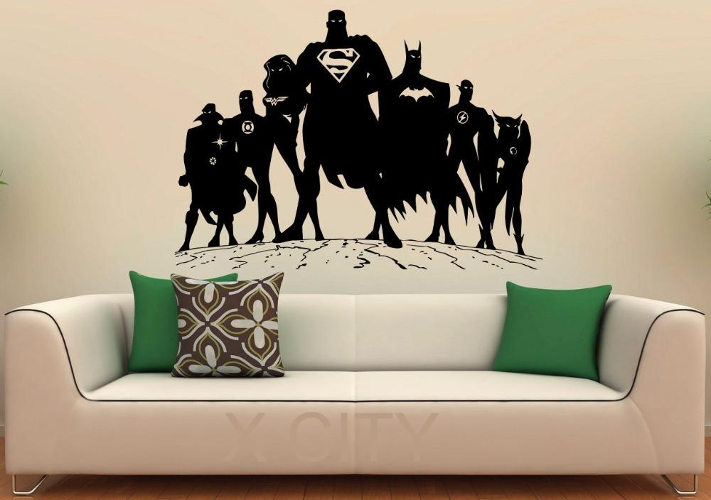 Aliexpress : Buy Superheroes Decal Super Hero Man Vinyl Inside Superhero Wall Art Stickers (Image 5 of 20)