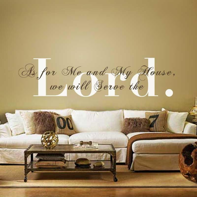 Aliexpress : Buy Vinyl Wall Decal As For Me And My House We With Regard To As For Me And My House Vinyl Wall Art (Image 3 of 20)