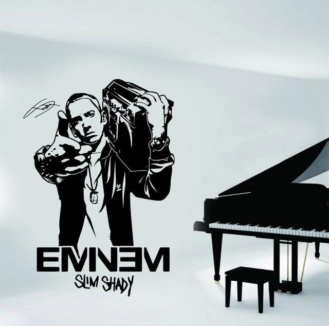 Aliexpress : Buy Wall Art Stickers For Boys Bedroom Design With Regard To Eminem Wall Art (Image 6 of 20)