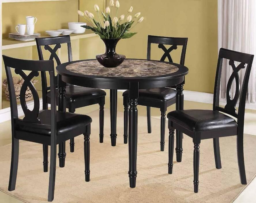 Alluring Small Round Table And Chairs With Small Round Dining With 2018 Cheap Dining Tables Sets (Image 1 of 20)