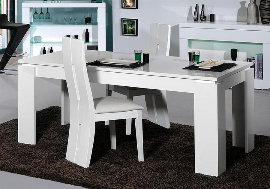 Alluring White Gloss Dining Table And Chairs White Dining Table Pertaining To Latest White High Gloss Dining Tables (View 11 of 20)