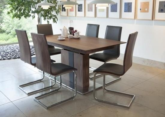 Almara Walnut Extending Dining Table + 6 Chairs | Morale Home Inside Newest Walnut Dining Tables And 6 Chairs (View 13 of 20)