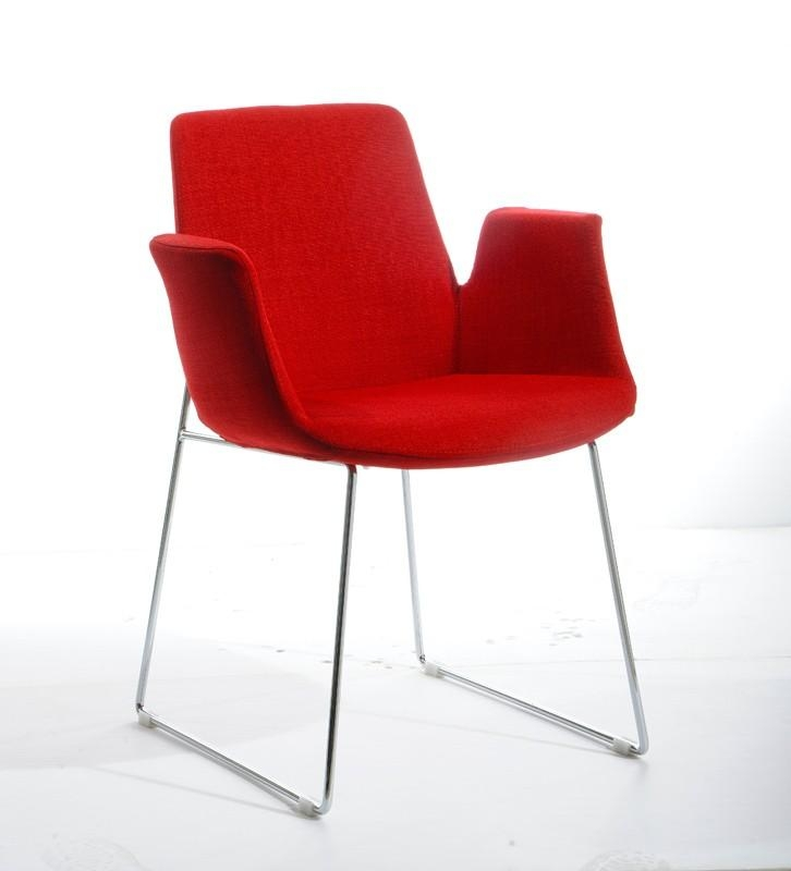 Altair Mid Century Red Fabric Dining Chair Within Best And Newest Red Dining Chairs (View 5 of 20)