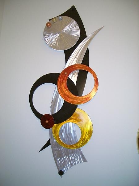 Aluminum Wall Art, Wall Sculptures In Brushed Aluminum And Regarding Large Metal Wall Art Sculptures (Image 3 of 20)
