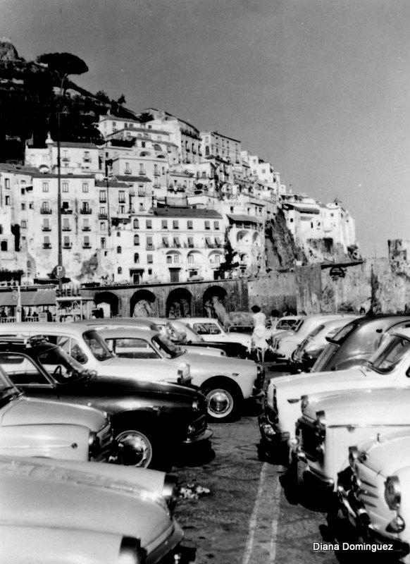 Amalfi Coast Vintage Print Italy Wall Art Italy Throughout Black And White Italian Wall Art (Image 10 of 20)