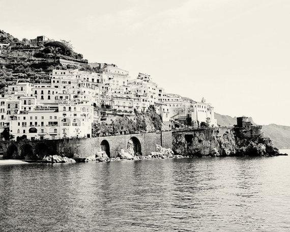 Amalfi Photography Black And White Italy Photography In Black And White Italian Wall Art (Image 11 of 20)