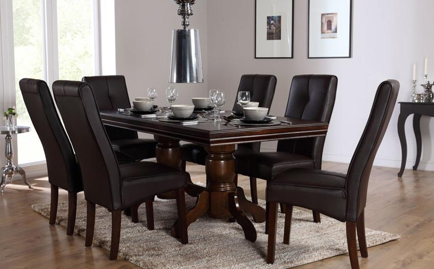 Amazing Design Dark Brown Dining Table | All Dining Room In Most Up To Date Dark Brown Wood Dining Tables (Image 3 of 20)