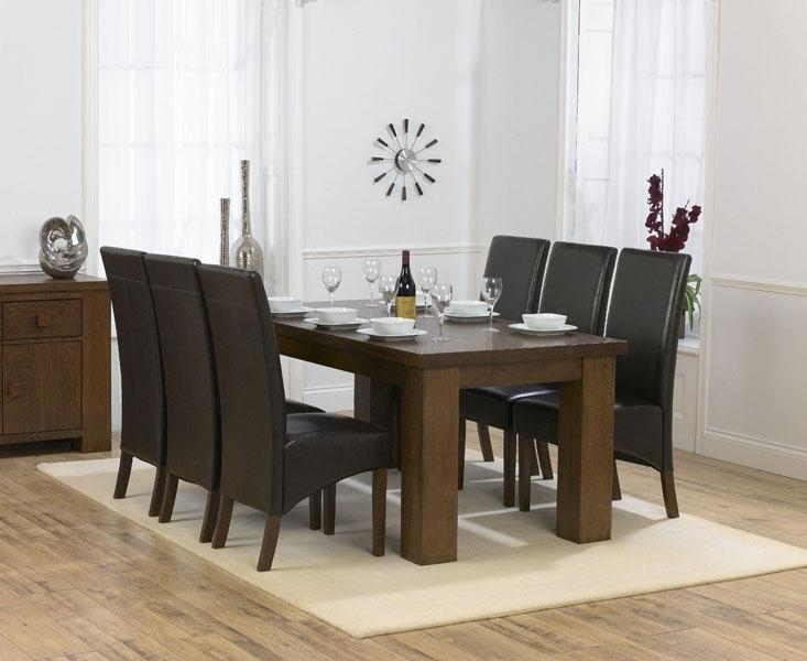 Amazing Design Dark Brown Dining Table | All Dining Room Throughout Most Popular Solid Dark Wood Dining Tables (Image 1 of 20)