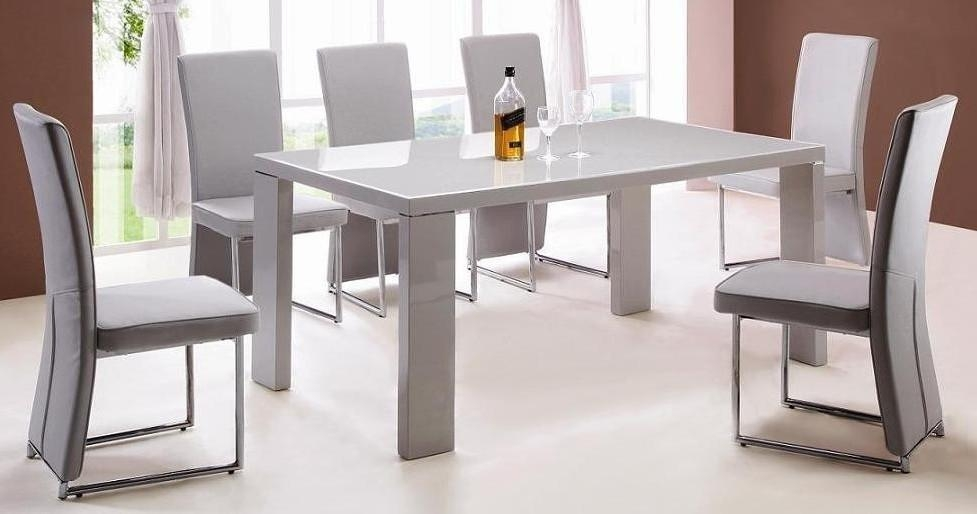 Amazing Design Grey Dining Table Set Classy Grey Dining Tables Uk Regarding Grey Gloss Dining Tables (Image 3 of 20)