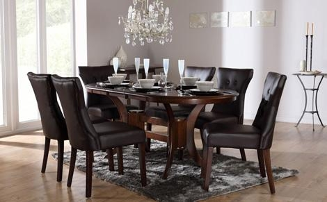 Amazing Dining Table Sets Uk Similiar Dark Wood Dining Table Throughout Latest Dark Wood Dining Tables And Chairs (Image 3 of 20)