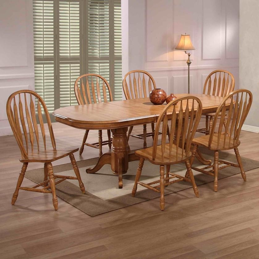 Dining Table Rollins Dining Table: 20 Photos Oak Dining Tables With 6 Chairs