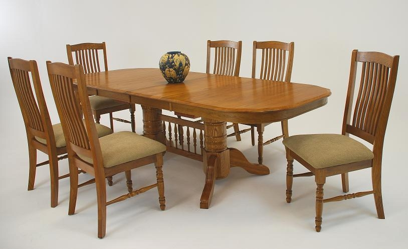 Amazing Oak Dining Room Table With Dining Room Furniture Oak For Most Popular Oak Furniture Dining Sets (Image 1 of 20)