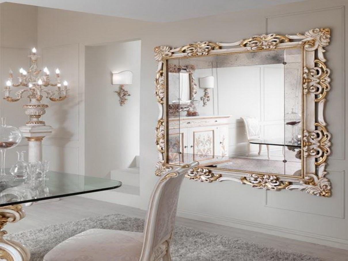 Amazing Wall Decor Mirror Stickers Exquisite Decoration Large Throughout Large Fancy Wall Mirrors (Image 1 of 20)