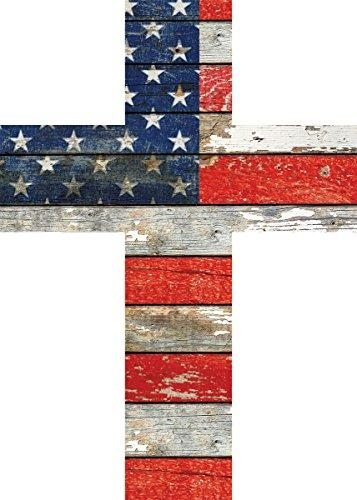 American Flag Red White And Blue Distressed 7 X 5 Wood Wall Art For Red White And Blue Wall Art (Image 3 of 20)