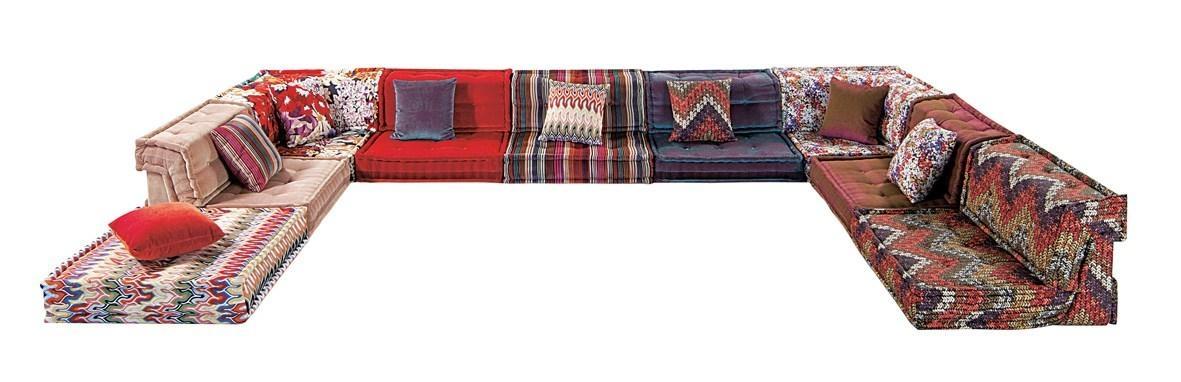 Anbausofa Aus Stoff Mah Jong Missoni Homeroche Bobois Design Throughout Roche Bobois Mah Jong Sofas (View 15 of 20)