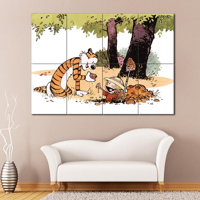 And Hobbes #12 Block Giant Wall Art Poster Inside Calvin And Hobbes Wall Art (Image 2 of 20)