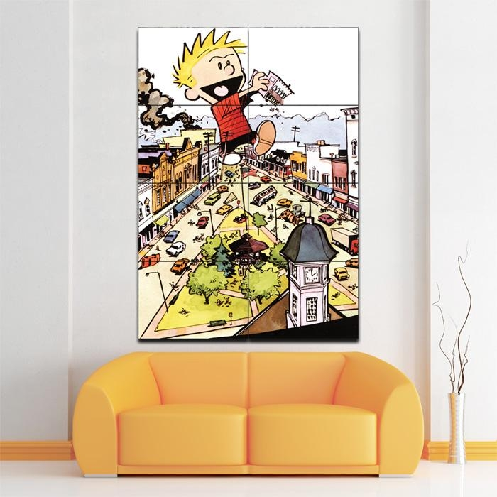 And Hobbes Giant Block Giant Wall Art Poster With Regard To Calvin And Hobbes Wall Art (Image 7 of 20)