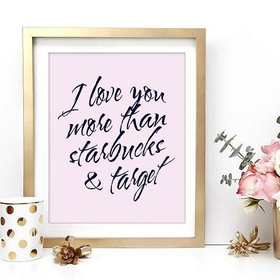 And Target Love Inspirational Black And White Wall Art Pertaining To Pink And White Wall Art (Image 4 of 20)
