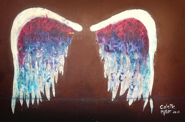 Angel Wings Los Angeles Urban Wall Artdesertchicaz On Deviantart For Angel Wing Wall Art (Image 2 of 20)