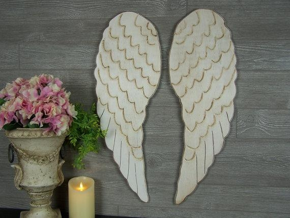 Angel Wings Wall Art Guardian Angel Decor Angel Wings Decor For Angel Wing Wall Art (View 14 of 20)