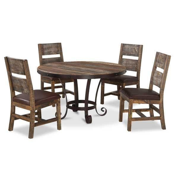 Antique 5 Piece Dining Set Round 967Rd 5Pc | Afw In Current Dining Sets (View 12 of 20)