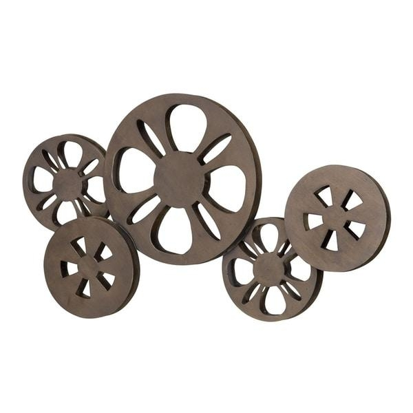 Antique Bronze Movie Reel Metal Wall Art – Free Shipping Today Pertaining To Movie Reel Wall Art (Image 4 of 20)