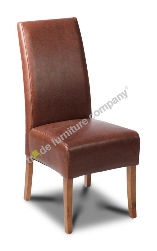 Antique Brown Leather Dining Chair With Brown Leather Dining Chairs (View 13 of 20)