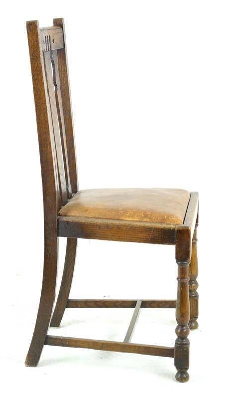 Antique Dining Chairs | Solid Oak Dining Chairs | Scotland, 1920's Pertaining To Best And Newest Oak Dining Chairs (View 13 of 20)