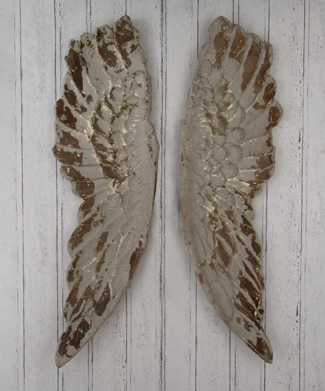 Antique Grey Polyresin Angel Wings Wall Art In Angel Wing Wall Art (View 11 of 20)