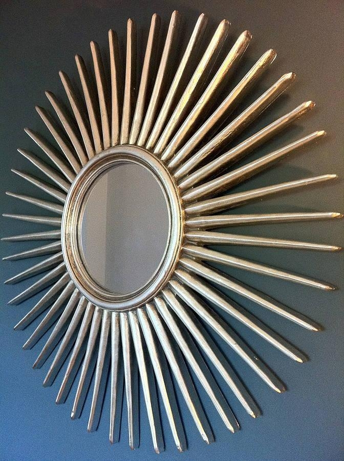 Antique Silver Starburst Wall Mirrorthe Forest & Co Pertaining To Silver Starburst Wall Art (View 6 of 20)