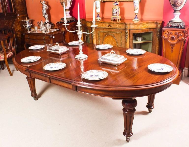 Antique Victorian Oval Dining Table And Eight Chairs, Circa 1860 For Most Recent Oval Extending Dining Tables And Chairs (Image 2 of 20)